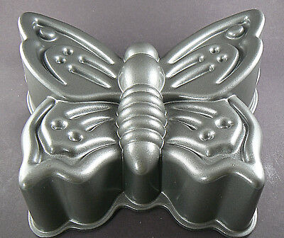 Nordic Ware  Cast Aluminum Butterfly 9 Cup Cake Pan Made in USA Butterfly Cupcake Pan