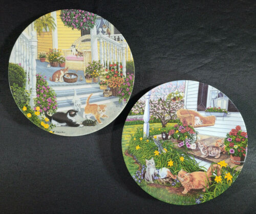 Higgins Bond Kitty Cat Secret Garden Knowles Collector Plate Mint Lot Vintage 🐈