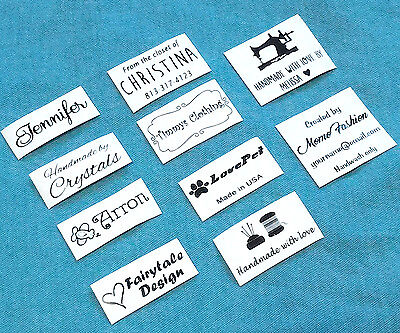 Personalized Clothing Labels (50x Custom iron on name tag clothing label handmade business Personalized logo )