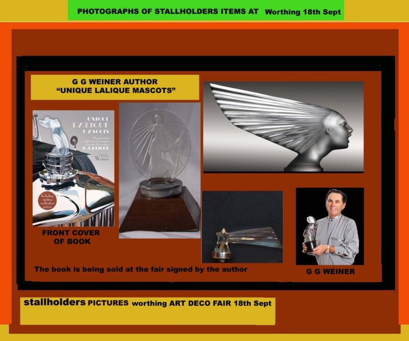 The Worthing Art Deco Fair with Llaique Car Mascots Exhibition