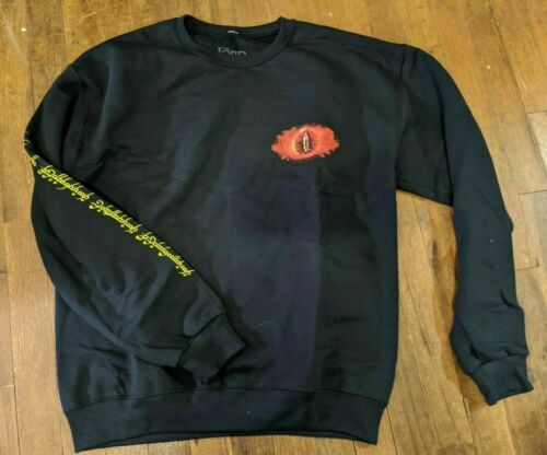 Loot Crate Lord of the Rings LOTR Eye of Sauron Pullover Sweatshirt LARGE NEW!!