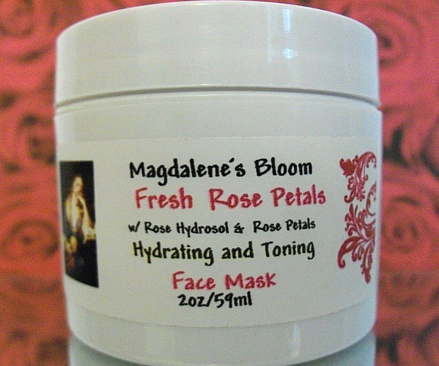 All Natural Fresh Rose Petal Powder Clay Face Mask Hydrates