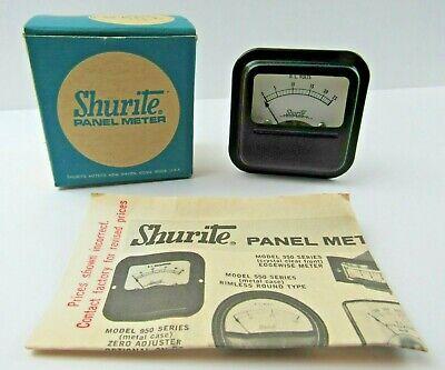 Vintage Nib Shurite Dc Voltmeter 0 - 25 Range Panel Mount Meter 9109