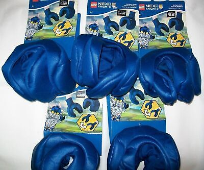 Lego Nexo Knights Costume Disguise GLOVES / HANDS Bulk Lot of 5 Party Favor Gift