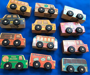 12 Montgomery schoolhouse wooden cars