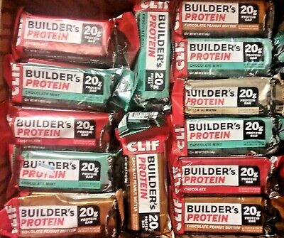 84 CLIF BUILDERS 20g PROTEIN BAR SPORT SNACK ENERGY NUTRITION BARS 2020 FREE S/H