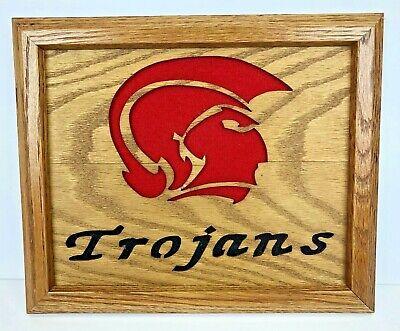 USC Trojans Wood Decorator Wall Hanging NEW