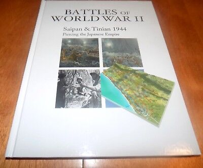 BATTLES OF WORLD WAR II SAIPAN & TINIAN 1944 US Marines Pacific Battle Book NEW