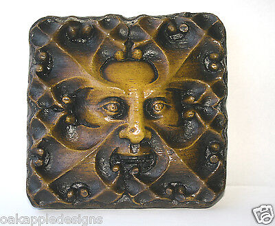 Green Man Church Carving Medieval Wall Plaque Hand Made Ornament Decorative Gift