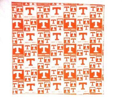 "Tennessee Vols Orange Bandanna 100% Cotton 313-2 New Handmade 21"" X 21"""