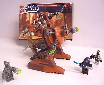 Lego 9491 Star Wars Geonosian Cannon Complete w/ 4 Minifigures Retired!! EUC!!