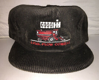 3a485664c7278 Vtg Case Corduroy Snapback hat cap MADE IN USA tractor equipment farming  rare