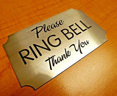 Engraved Please Ring Bell Wall Door Sign Plate Doorbell Home Office Plaque