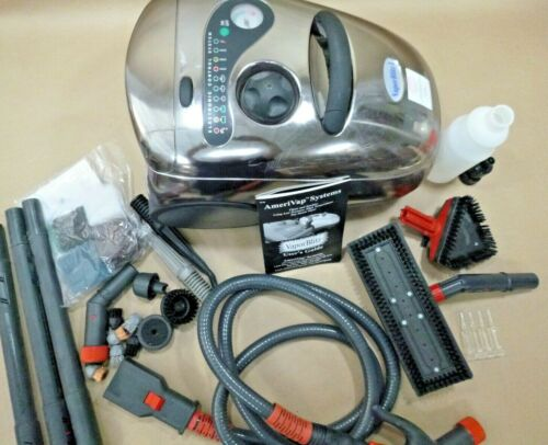 AMERIVAP VAPOR BLITZ 1 COMMERCIAL STEAM CLEANER (UNUSED WITH ATTACHMENTS)