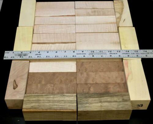 MFR11) Variety Cutoffs Knife Block Blanks Pistol Grips Kiln Dried Wood