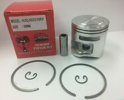 POP UP PISTON KIT FITS HUSQVARNA 372XP, 365, 50MM, X-TORQUE KIT, SHIPS USA, NEW