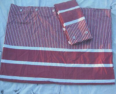 Awning Stripe Bedding - Hemtex Red White Ticking and Awning Stripe Duvet Cover Single Sz with Std Sham