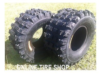(NEW HONDA TRX 400EX ( 99-09 ) PAIR (2) 20x10-9 AMBUSH SPORT ATV TIRES - REAR)