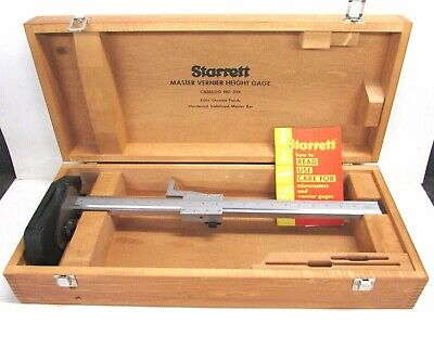 Starrett Tools 20 Vernier Height Gage No. 254