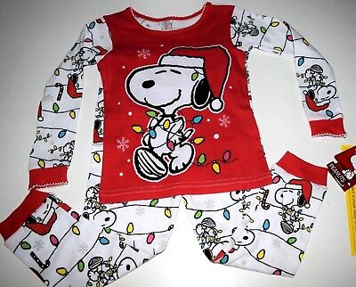 New Snoopy Christmas Toddler girls 2T 3T 4T 5T holiday girls Snoopy pajamas - Holiday Toddler Pajamas