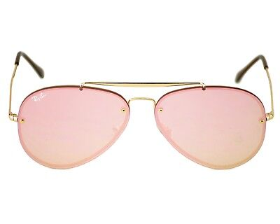Ray-Ban RB3584N Blaze Aviator 9052/E4 Gold Frame/Pink Mirror Lenses Unisex (Ray Ban Gold Mirror Aviator)