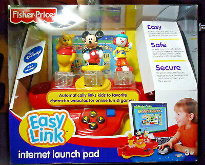 Disney,Fisher Price,Easy Link Internet Launch Pad,NRFP,2007 NOS Pooh Mickey Jojo