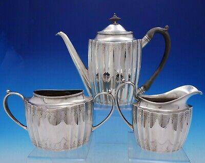 Tea Coffee Pots Sets Sterling Silver Three Piece Tea Service