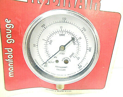 11707 Robinair Manifold Guage 1-14 Height 2-12 Dia.0-20 Psi 0-300 Kg Nos