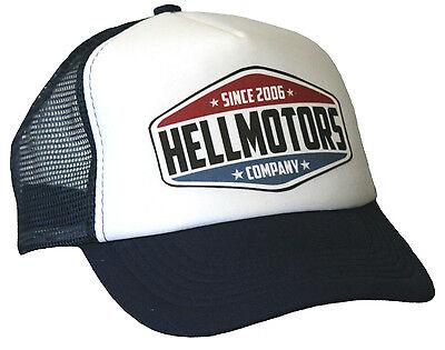 Hellmotors Trucker Cap Navy Weiß Hot Rod US Car Old School Biker Mütze Hut Neu