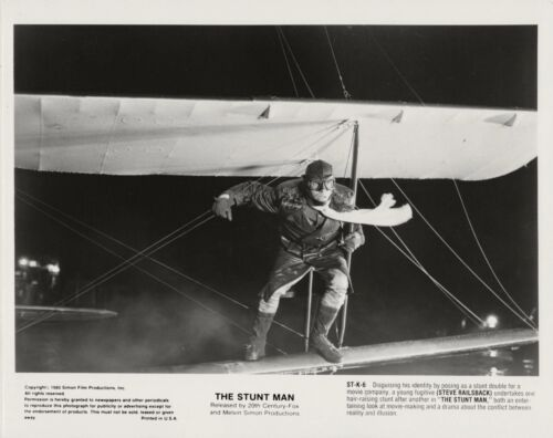 Steve Railsback on the wing of a plane ~ ORIGINAL 1980 photo ~ The Stunt Man