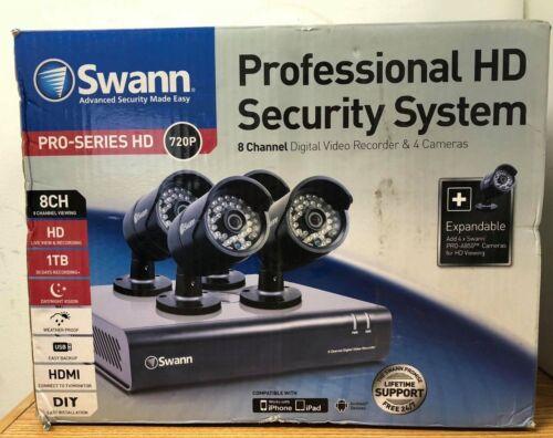 Swann 8-Channel, 4-Camera Outdoor Wired 1TB DVR Surveillance System Black SWDVK-844004-US