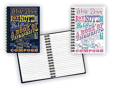Spiral Bound Notebook Set 2 Notepads Total 8 12 X 5 58 - 80 Lined Pages...