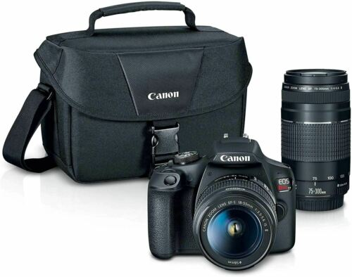 Marianna0268 Canon EOS REBEL T7 DSLR Camera 2 Lens Kit with EF18-55mm + EF 75-30