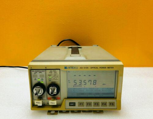 Ando AQ-2105 -60 to +10 dBm Optical Power Meter + AQ-4148 AQ-2107 Modules Tested