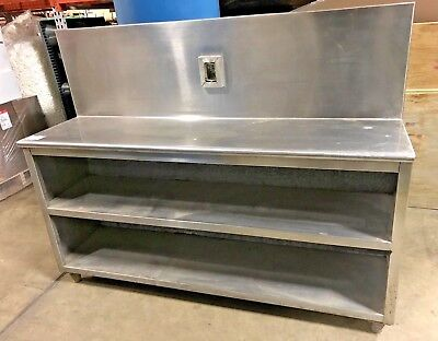 Stainless Steel Prep Table Commercial Table 2 Storage Shelves 66 W X 18 D