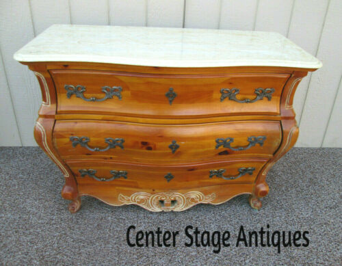 56324 Quality  PULASKI French Country Marble Top Louis XV  Dresser Chest