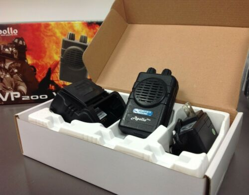 APOLLO 2 CH SV VHF VP200 PRO-1 VOICE PAGER, with Charger, USED IN BOX