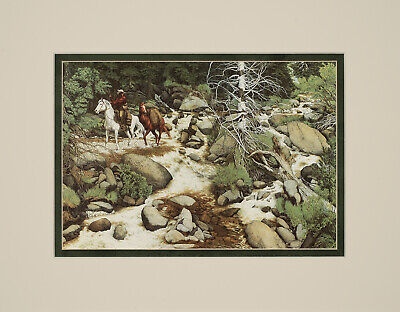 Has Eyes (Bev Doolittle The Forest has eyes Double Matted print fits standard 11x14 frame )