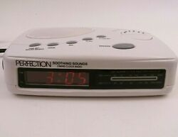 Vintage Perfection Brand Soothing Sounds 2 Band Alarm Clock Radio