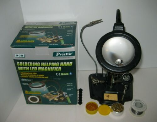 Eclipse SN-396 Soldering Helping Hand with LED Magnifier With BOX