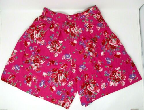 VTG Laura Ashley Floral High Waisted Shorts Mom Size 10 Pink