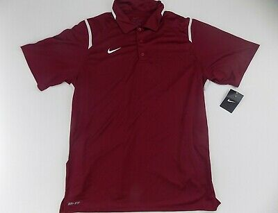 Men's Nike game day polo shirt dry fit Large burgundy Mens Game Day Polo