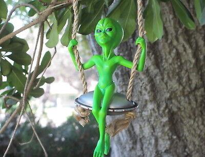 Alien Swinger Hanger Swinging on Spaceship or Flying Saucer - Vanmark Van Mark