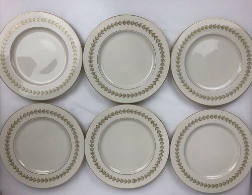 "Castleton Grosvenor China Luncheon Salad Plates 9"" USA Lot Of 6"