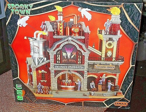 NIB Lemax 2021 VHTF  Evil Spirits Whiskey Distillery  { Sold Out } Now In Hand