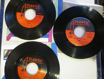 "3 Abba 7"" 45 RPM records ""Fernando/Rock Me""  The Winner Takes All I Do EXC"