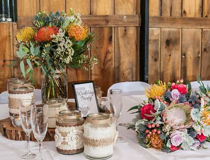 Rustic Wedding Decorations & Photo Wall!