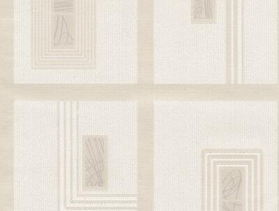 1901 Wallpaper - Moda Black Label Belgravia Cream Geometric Glitter Textured Wallpaper (1901)