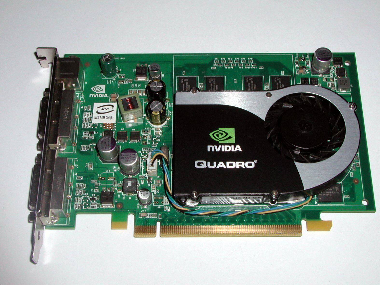 PCIe x16 Grafikkarte nVidia Quadro FX1700, 512 MByte DDR2, 2x DVI TV, gebraucht