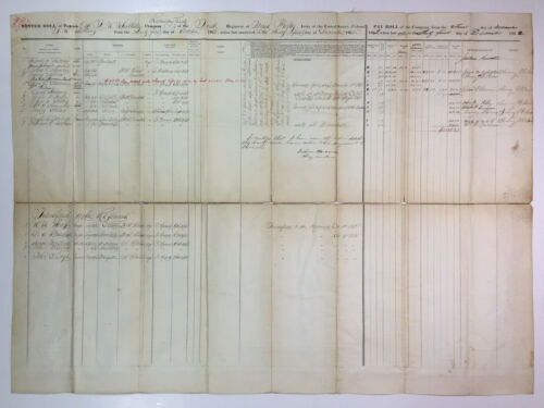 1862 Civil War Muster Roll Document 1st Michigan Infantry Colonel F W Whittlesey